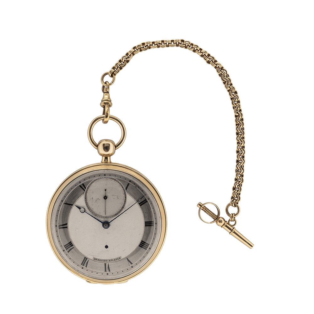 Breguet No. 2729 Une Minute tourbillon watch, est. $200,000-$300,000. Image courtesy of Skinner, Inc.