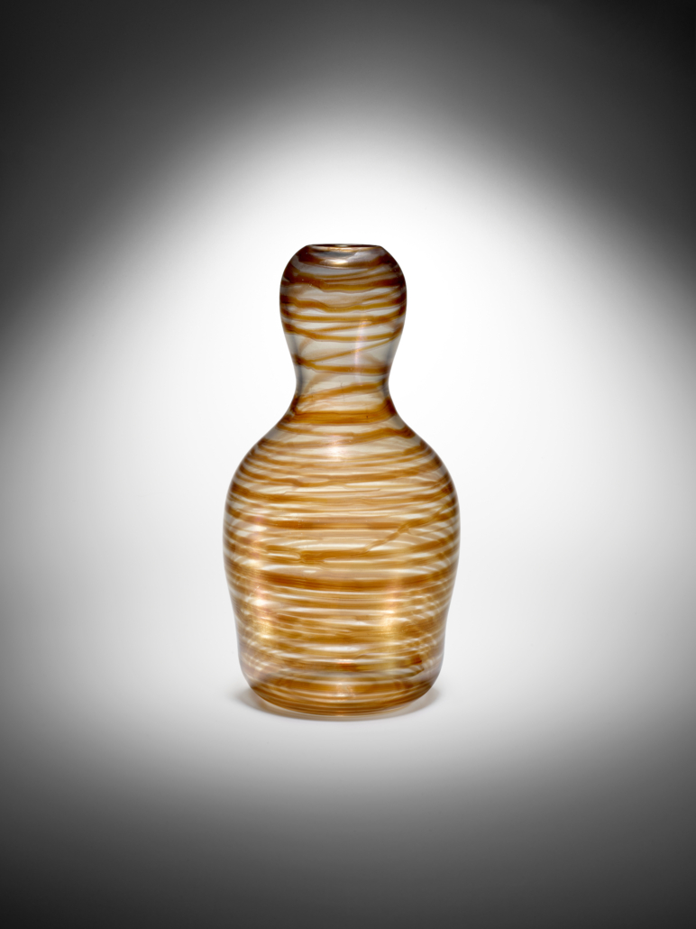 Carlo Scarpa, Variegati vase, circa 1942, sold for $112,813. Image courtesy of Bonhams