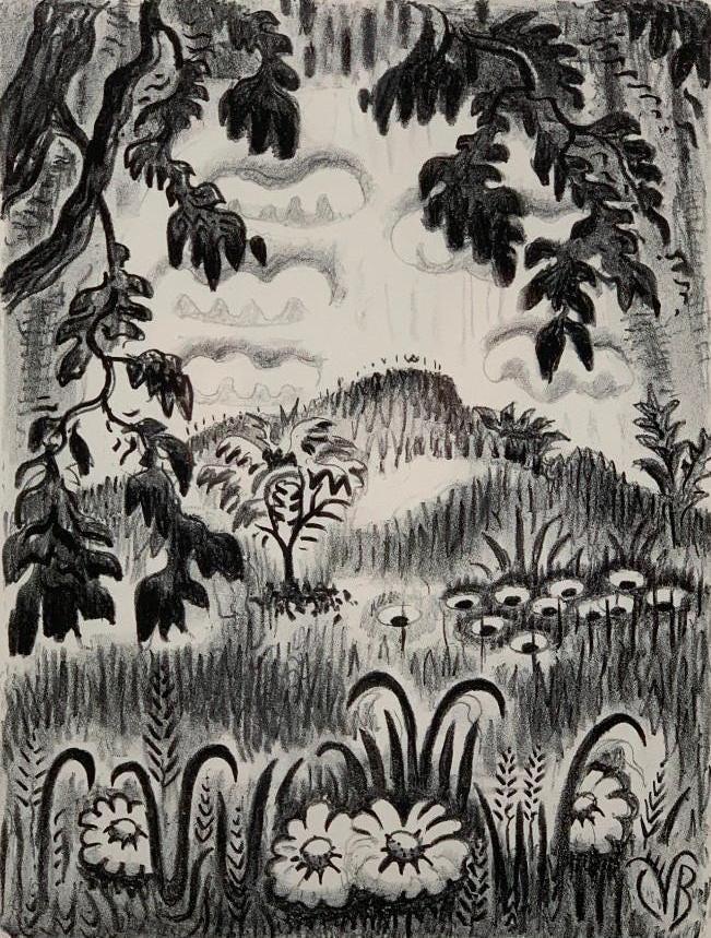 Charles Burchfield, 'Summer Benediction,' $5,228