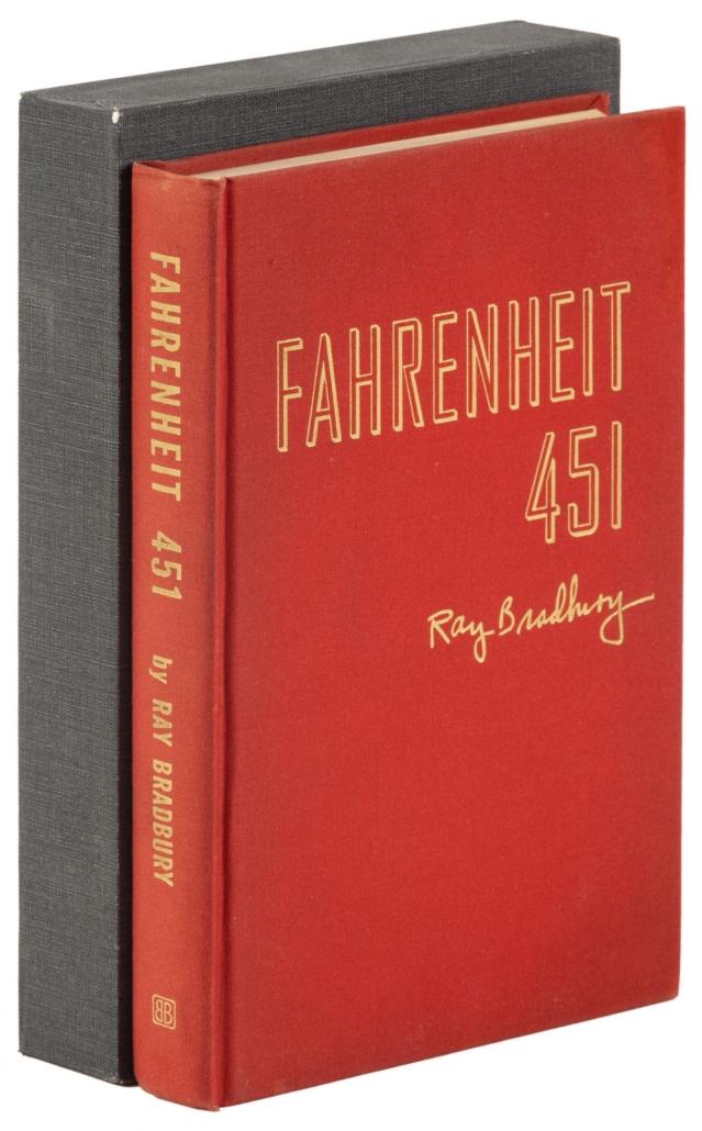 Presentation copy of Ray Bradbury's 'Fahrenheit 451,' est. $4,000-$6,000