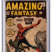 Amazing Fantasy #15, featuring the debut appearance of Spider-Man, est. $10,000-$15,000