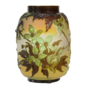 Signed Galle French cameo art glass vase, est. $4,000-$8,000