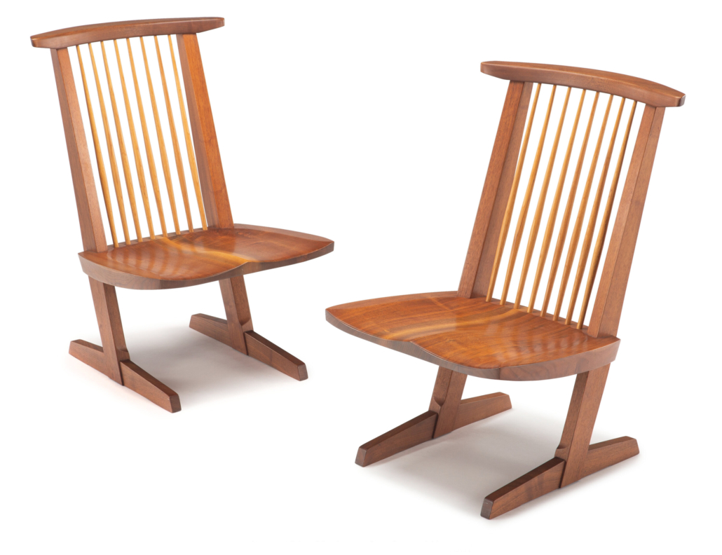 Conoid lounge chairs by George Nakashima, $17,500