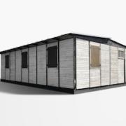 Jean Prouve 'demountable house,' £325,250. Image courtesy of Bonhams