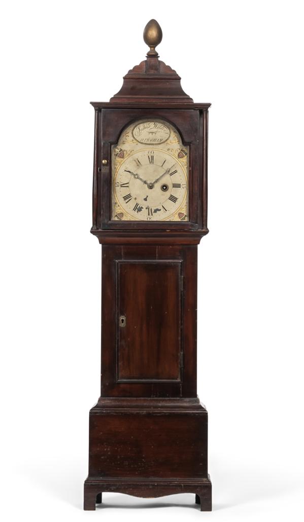 Joshua Wilder dwarf clock, est. $7,000-$9,000. Image courtesy of Skinner, Inc.