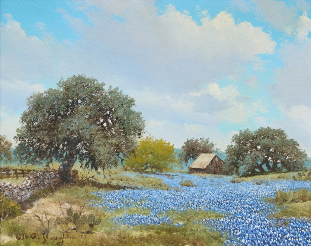 William A. Slaughter, 'Field of Bluebonnets,' est. $4,000-$7,000
