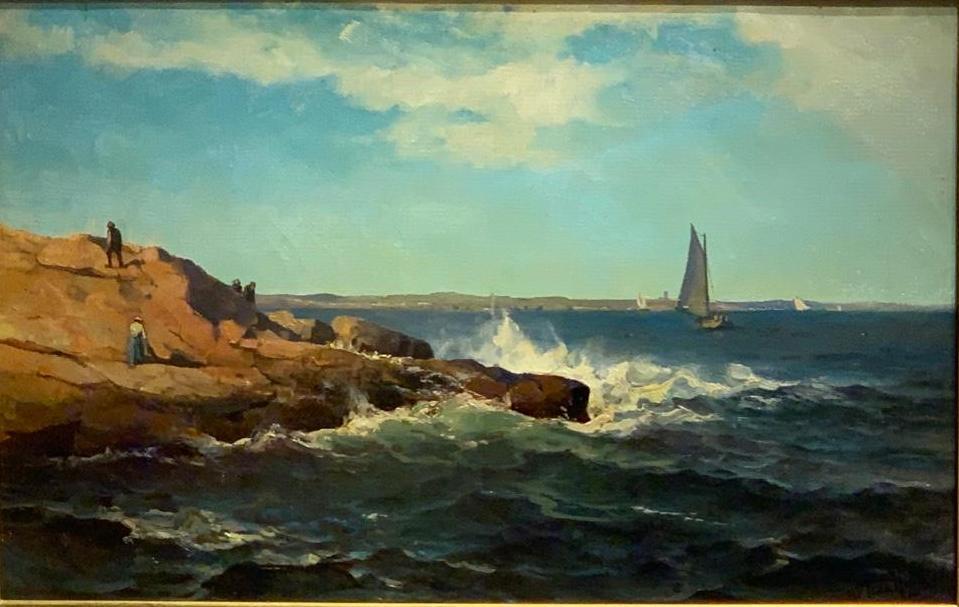 Mauritz Frederik De Haas marine painting, $8,610