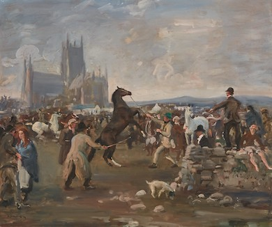 Sir Alfred Munnings equine painting wins $500K at Andrew Jones