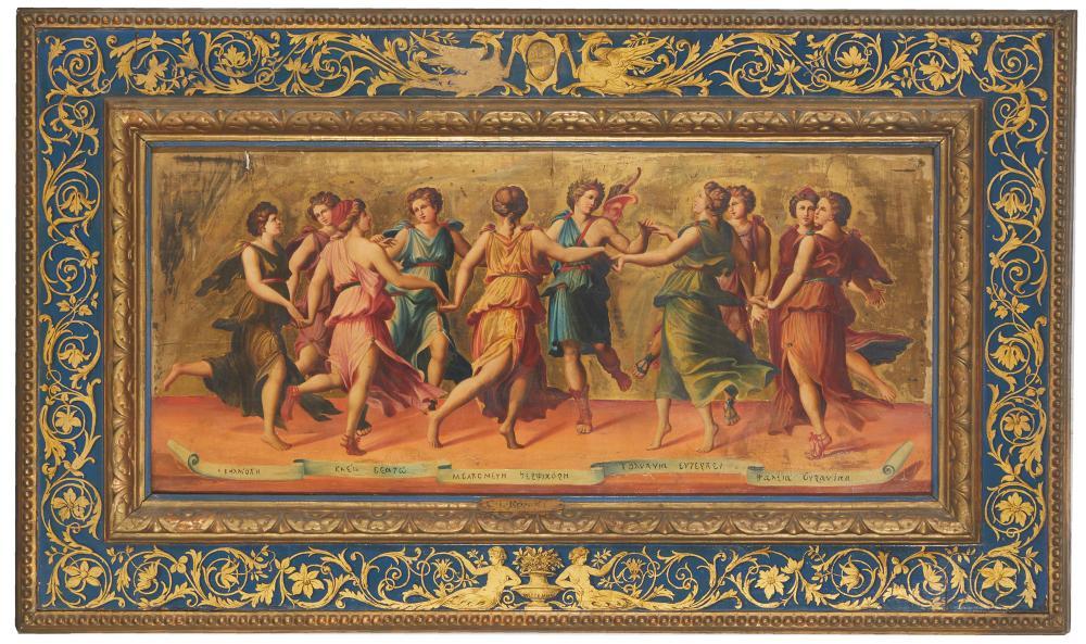 C. L. Romoli, 'Apollo dancing with the nine muses,' after Baldassare Peruzzi, $5,625