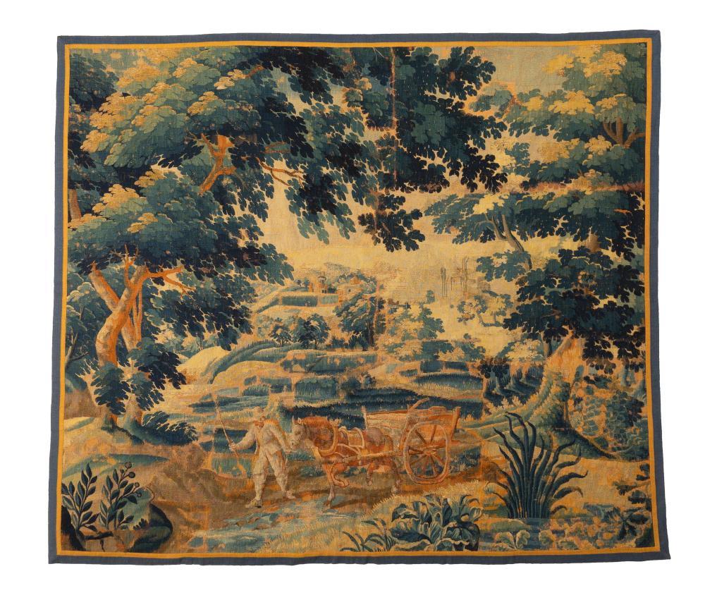 Belgian woven tapestry, $7,150