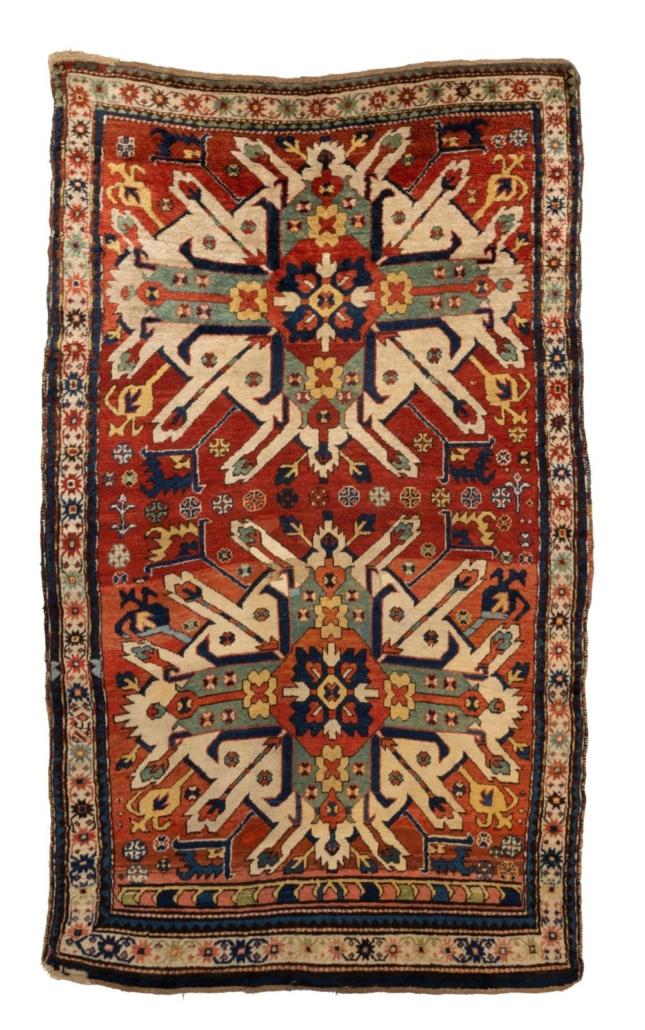 Kazak Karabagh area rug, $3,125