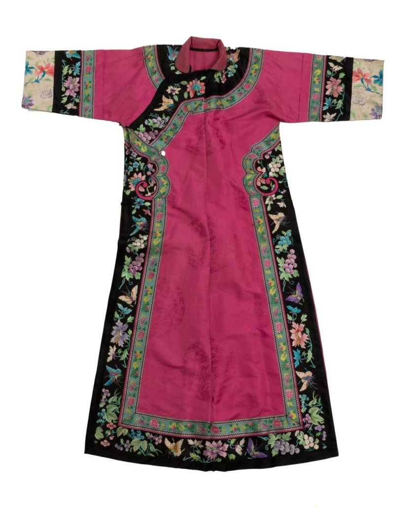 Chinese embroidered silk robe, $2,925