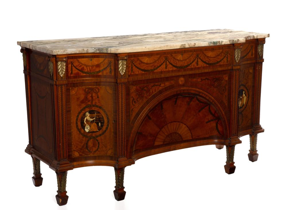 English marquetry buffet, $8,125
