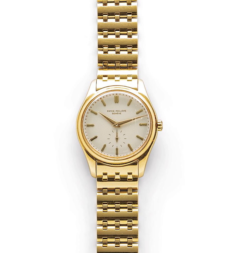 Patek Philippe Ref. 2526 18K gold automatic wristwatch, est. $20,000-$30,000. Image courtesy of Skinner, Inc.