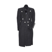 Full-length black grosgrain coat worn on stage by Prince in 1983, est. $80,000-$120,000. Image courtesy of Bonhams