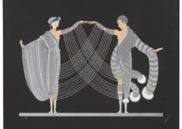 Two Erte screenprints from the 1983 Love and Passion suite, 'The Marriage Dance' (pictured) and 'Kiss of Fire,' sold together for $9,000 plus the buyer's premium in June 2017 at Heritage Auctions. Image courtesy of Heritage Auctions and LiveAuctioneers.
