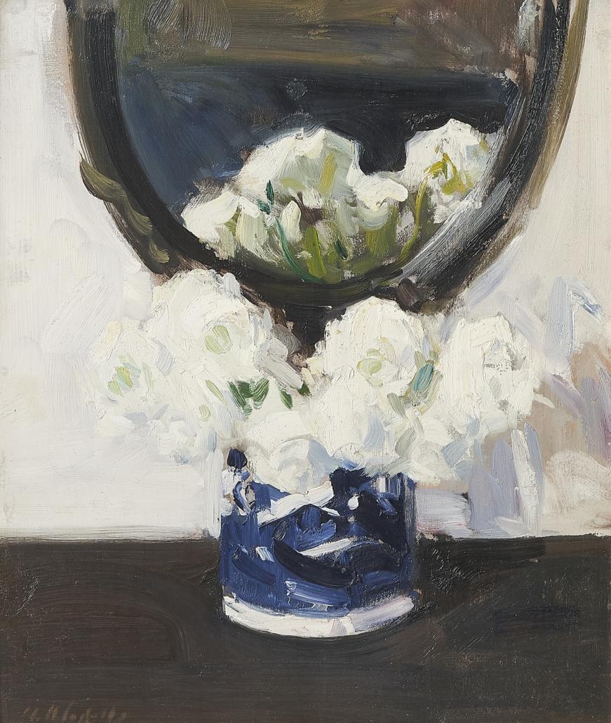 Francis Campbell Boileau Cadell, 'Still Life with Ranunculus,' est. £100,000-£150,000. Image courtesy of Bonhams