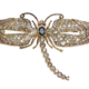 18K gold, diamond, sapphire and ruby dragonfly brooch, est. $2,500-$4,000