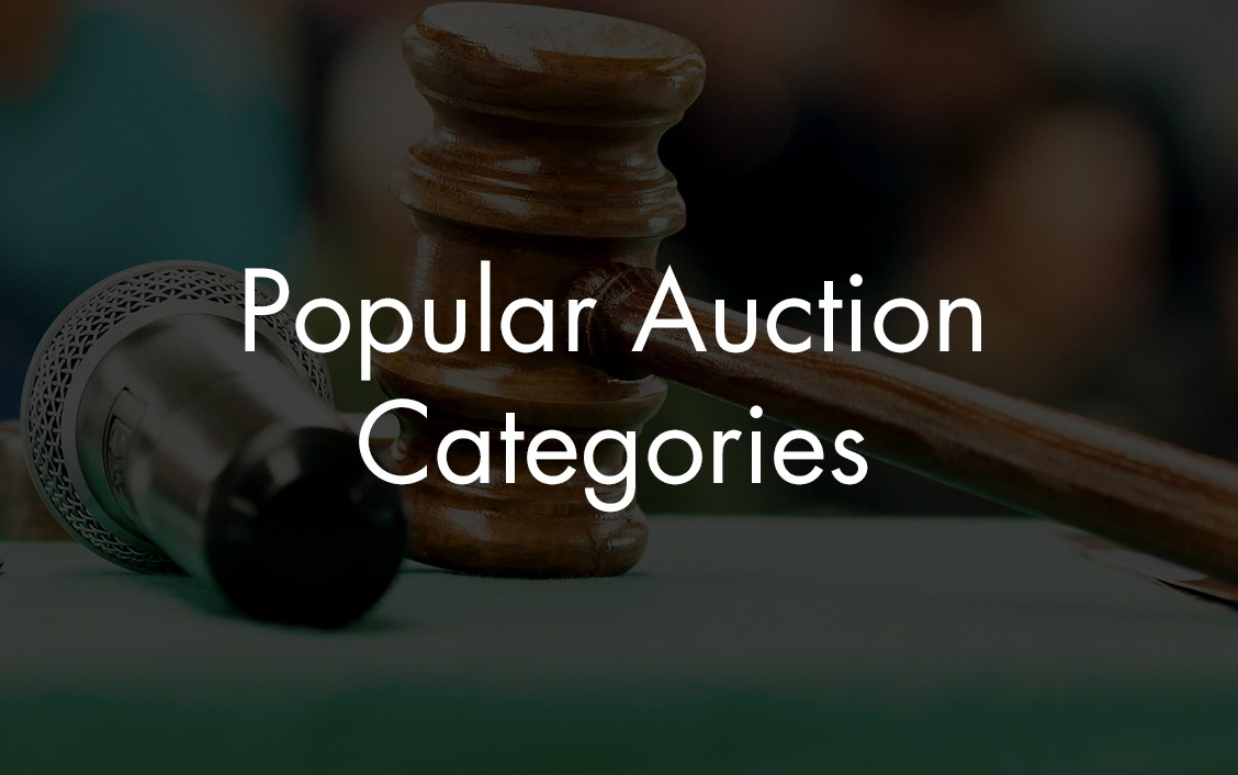 popular auction categories on liveauctioneers